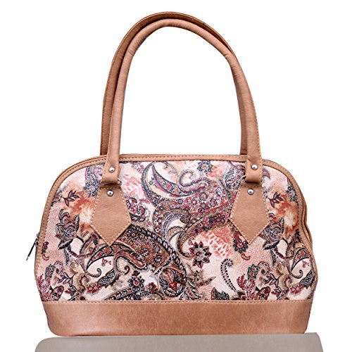 Flora Premium PU Leather Women\'s Handbag (Light Brown Color)