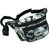 C.P. Sports Gürteltasche, Bauchtasche, Hüfttasche in 9 Farben - Doggy Bag, Waistbag für Damen und Herren Sport und Outdoor (Camouflage-Dunkelgrau)