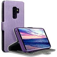 Samsung S9 Plus Tasche, Terrapin Leder Tasche Case Hülle im Bookstyle mit Standfunktion Kartenfächer für Samsung Galaxy S9 Plus Tasche - Lila