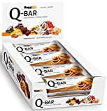 Protein Riegel Low Carb Q-Bar - Whey Isolat Proteinriegel Von Supplify Zum Abnehmen Oder Muskelaufbau – Cinnamon Roll 24x 60g - ein echter power-bar als Proteinpulver und Eiweiß Shake Ersatz