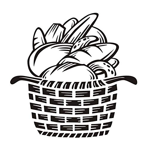 Wandaufkleber Brot In Den Korb Wandaufkleber Wohnkultur Aufkleber Für Kinderzimmer TV Küche Fliesen Vinyl Dekorative Aufkleber 44x44 cm