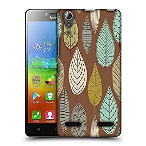 Snoogg Colorful Leaves Brown Designer Protective Phone Back Case Cover For Lenovo A6010