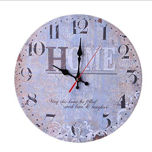 mhdxmp) Orologio daParete in LegnoNonAnticoStile Vintage Orologio daParete Meccanico per Orologio da Cucina di CasaNuovo Feb