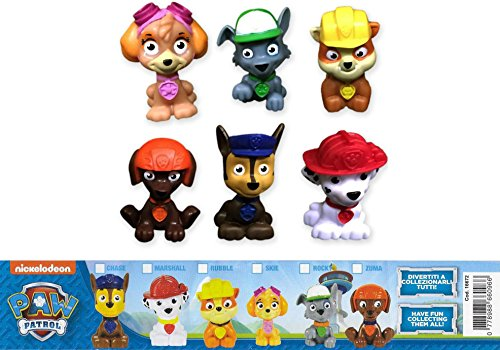 PAW PATROL Set 6 Mini FIGURES 4cm CHASE ZUMA MARSHALL SKYE RUBBLE ROCKY Original Cake Toppers PARA TORTA