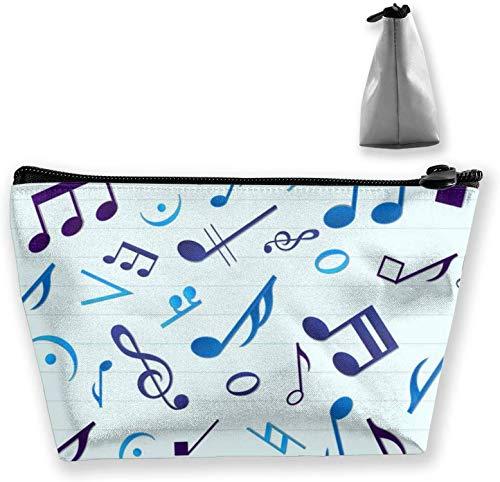 Make-up Tasche für Geldbörse Reisen Make-up Tasche Mini Kosmetiktasche für Frauen Mädchen Musik Noten, Nähen, OneSize