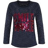 BEZLIT Mädchen Kinder Pullover Pulli Wende-Pailletten Sweatshirt 21495 Navy Größe 164