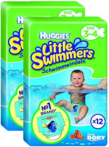 Preisvergleich Produktbild Huggies Little Swimmers Schwimmwindeln Größe 3/4 7-15 kg 2er Packung (2 x 12 Stück)