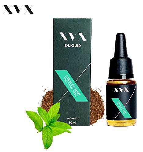 XVX E-Liquid Tabak-Minze Geschmack Elektronisches Liquid Für E-Zigarette Elektronische Shisha Liquid 10ml Flasche Nadelspitze Präzise Befüllung Wähle Deinen Lifestyle Neu Für 2016 Digitaler Rauch Nikotinfrei Tabakfrei