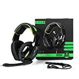 [Newly Updated] Supsoo G813 3.5mm wired Gaming Headset with Microphone Noise Isolating Volume Control Gaming Headphones for Pc/Mac/Ps4/New Xboxone/Table/Phone(Black&Green) …