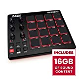 AKAI Professional MPD218 | Ultra-Portable USB Bus-Powered 16-Pad USB/MIDI Pad Controller with MPC Pads, 6 Assignable Knobs, Note Repeat & Full Level Buttons, and Production Software Package Included