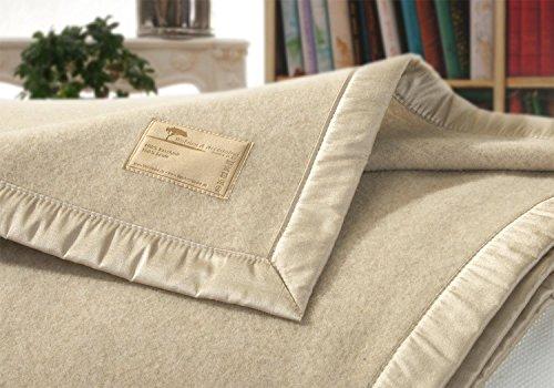 Wohnen & Accessoires Kaschmirdecke, Wolldecke aus 100% Kaschmir Amalfi Creme-beige 150x200cm Seide