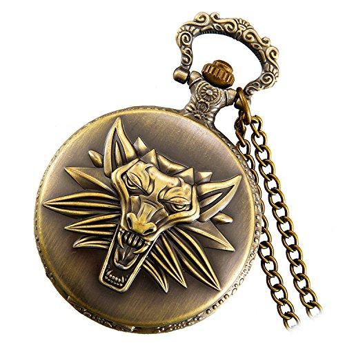 lancardo-witcher-3-wild-hunt-embossed-wolf-head-pendant-pocket-watch-with-chain