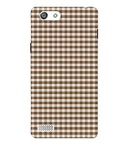 Fuson Designer Back Case Cover for Oppo Neo 5 :: Oppo A31 :: Oppo Neo 5S 2015 ( Brownish Checks Pattern )