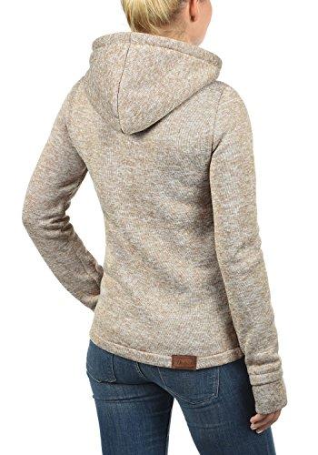 DESIRES Thory Damen Fleecejacke Sweatjacke Jacke Mit Kapuze Und Daumenlöcher, Größe:XXL, Farbe:Dune (5409) - 3