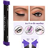 Bluestercool Eyeliner Stamp Seal Eyeliner liquide avec brosse de maquillage Ensemble