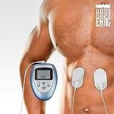 Abdo ENRG Pulse - Elettrostimolatore muscolare digitale multifunzione bruciagrassi ad elettrodi con 4 contatti e 10 Livelli di intensita - Portatile e compatto - Elettrostimolazione per tonificare, snellire, rassodare e migliorare la circolazione sanguigna