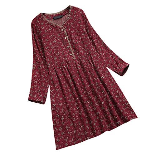n,Frauen Strandkleid Abendkleid Langarmkleid Tief Blumenmuster Halloween Hochzeitskleid Freizeitkleidung ()