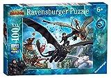 Ravensburger- Puzzle 100 Pièces XXL Le monde caché Dragons 3 Puzzle Enfant, 4005556109555