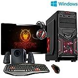 Fierce Ultra rápido Dualcore AMD Gaming PC doméstico (juego de ordenador) - Windows 10 - 3,9GHz AMD A-Series A4-6300 - Oficina, computadora de la familia - (WIFI, 8GB RAM, Disco Duro de 1TB, gráficos R7-Series integrados) - 221064