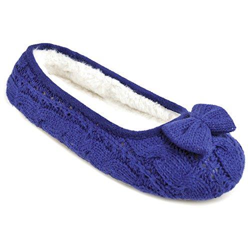 Krishwear , Damen Hausschuhe Blau