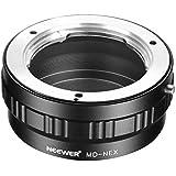 Neewer Adaptador de montaje de lentes para Minolta MD  Lente para Sony NEX E-montaje de cámara A7 A7S A7SII A7R A7RII A7II A3000 A6000 A6300 A6500 NEX-3 NEX-3C NEX-5 NEX-5C NEX-5N NEX-5R NEX-6