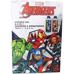 Marvel ~ Comics ~ ~ de los Vengadores Gel de ducha & 2en 1Champú Acondicionador ~ Set de regalo
