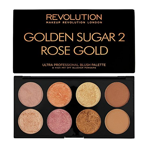 MAKEUP REVOLUTION Ultra Blush Palette Golden Sugar 2 Rose Gold, 13 g
