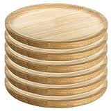 Artema - Holzteller Rund - Holzplatte - Kiefer - Set 6 - Ø 28 cm