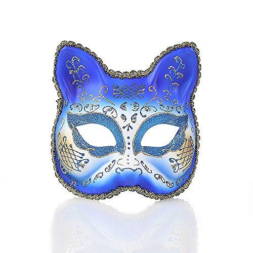 AJDGL Masquerade Cat Face Mask Früher Venezianische