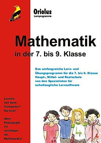 Mathematik 7. bis 9. Klasse - Schullizenz für PC 5 Jahre, updatefähig: Das Lernprogramm für Haupt-, Mittel- und Realschule - für Windows 7-10ff und Windows-Netzwerk