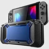 XiuFen for Nintend Switch Case Rugged Protective Hard Shell Blue