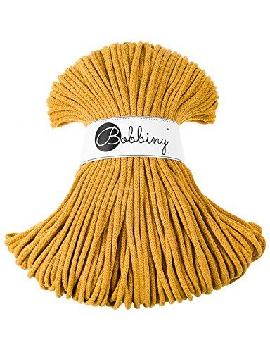 Bobbiny Cords 5 mm - Rope-Garn 100 m (mustard)