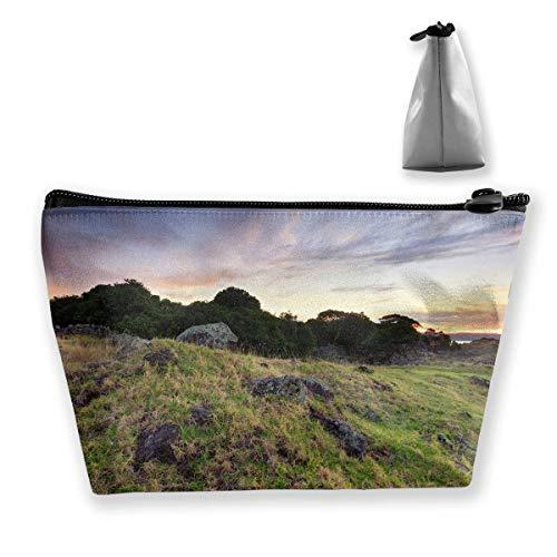 Casual Receive Bag Stone Field Zipper Bag -