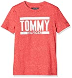 Tommy Hilfiger Jungen T-Shirt Essential+ Logo Tee S/S, Rot (Lychee 618), 92