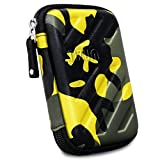 TIZUM External Hard Drive Case for 2.5-inch Hard Drive, GPS -Premium Edition (Camouflage Yellow)