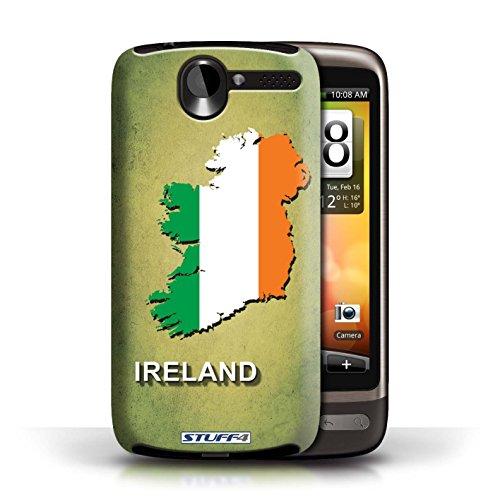 Kobalt® Imprimé Etui / Coque pour HTC Desire G7 / Argentine conception / Série Drapeau Pays Irlande/irlandaise