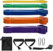 SKY TOUCH Pull Up Assist Bands,8 Packs Pull Up Assist Bands Set Resistance Loop Bands Powerlifting Exercise St