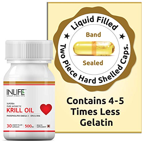 Inlife Krill Oil Superba Phospholipid Omega 3 with Astaxanthin 500 mg (30 Capsules)