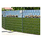 PerfectHD Zaunsichtschutz, Windschutz (30 versch. Motive) für Doppelstabmattenzaun *Ameland* einseitig, 19cm, 9 Streifen