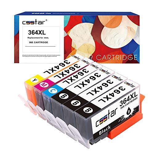 CSSTAR Kompatibel Tintenpatronen Ersatz für HP 364 XL364XL Druckerpatronen Multipack für Photosmart 5520 5510 5524 B109a Plus B210a, OfficeJet 4620, DeskJet 3520 Drucker - Schwarz, Cyan, Magenta, Gelb -