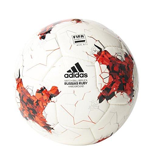 adidas Erwachsene Confederations Cup Hardground Fußball, Top:White/Bright Red/Red/Black Bottom:Silver Metallic/Pantone, 5
