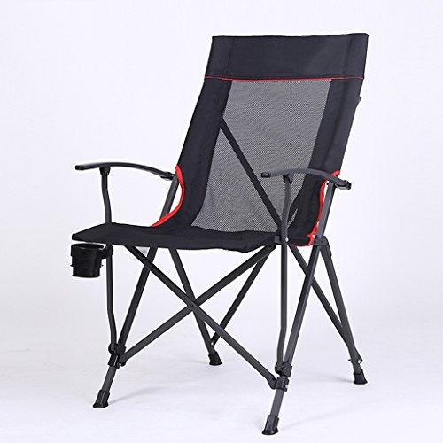 GHM Im Freien faltender Freizeit-Stuhl-bequemer Rückenlehnen-Fischen-Camping-Stuhl mit Armlehnen (Ac-möbel-stuhl)