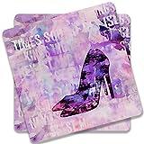 Colorpur Stilettos High Heels Wooden Squ...