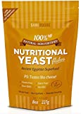 Natural Non-Fortified Nutritional Yeast Flakes (227g) : Savoury Condiment & Pure Plant Based Nutrition. A natural powder source of both protein and fibre, all 18 amino acids and a multitude of different minerals (including iron, selenium and zinc) as well as a natural vitamin B-complex and Beta-glucans. Great vegan cheese and salt seasoning alternative. Low in calories, fat and sodium, it is dairy free, MSG free and gluten free. Free Nutritional Yeast recipe E cookbook on purchase.
