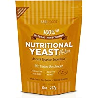 Sari Foods Natural Non-Fortified Nutritional Yeast Flakes, 8 oz. by Sari Foods Co
