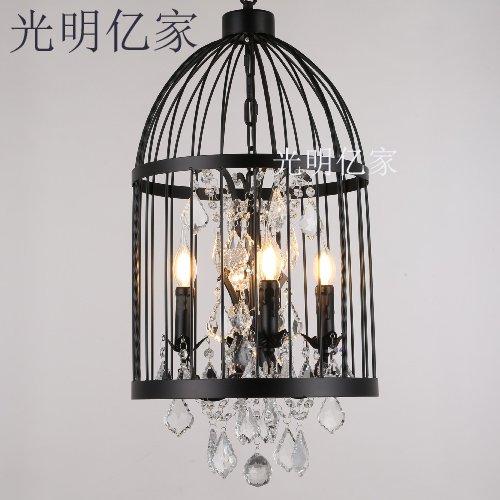 BGmdjcf Ferro Da Stiro Lampadari Stile Liberty Birdcage Creative Crystal