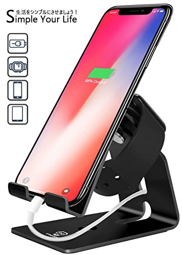FOGEEK Universal Aluminium Docking Station for charging –für Smartphone, Tablet & Apple Watch (Charger Not Included) - Schwarz (Station Mobile Docking Universal)