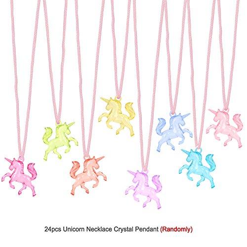 4d5288d90ed5 Konsait Unicornio Colgante Collares para Niñas y Unicornio Pulsera de  Silicona Ideal.