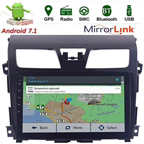 EinCar 10.1''HD Touch Screen Android 7.1 Auto-Stereo-Radio für Nissan Altima (2014-2016) GPS Navigation Quad Core Head Unit Unterstützung FM AM RDS Radio/WIFI/3G/4G/1080P/Bluetooth/Lenkrad-Steuerung (Altima Nissan System Radio)