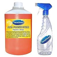 Tetraclean Multipurpose Orange Fragrance Air Freshener With Free Spray Bottle(1100ml)